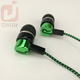Wholesale Universal Manufacturers - common cheap serpentine Weave braid cable headset earphones headphone earcup direct sales by manufacturers blue green 1000ps lot