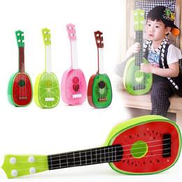 Wholesale Wholesale Fruit Gifts - Kids Fruit Ukulele Ukelele Uke Small Guitar Musical Instrument Toy Gift