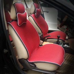 Wholesale Car Luxury Cushion - 13 Piece set Full Seats Cover Universal Car Four Seasons Linen Silicone Non-slip Ultra-thin Luxury Custom Car Seat Cushions Set