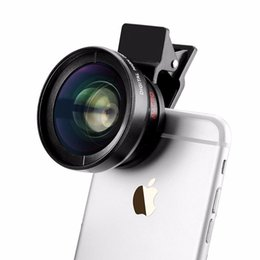 Wholesale mobile definition - New High Quality Macro Mobile Phone Lens 0.45X Super Wide Angle+Macro Lens 37mm Digital High Definition For iPhone Samsung Xiaomi