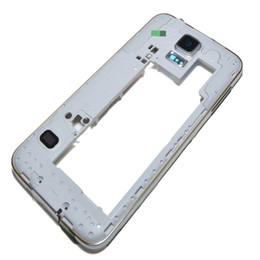 Samsung galaxy s5 partes online-Carcasa trasera posterior de bisel de bastidor intermedio original con reemplazo de partes para Samsung Galaxy S5 G900A G900T G900P G900 G900F libre de DHL