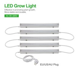 Wholesale Grow Light Set - 5pcs set Led Grow Light 85-265V EU US AU Plug 660nm Red 455nm Blue Led Plant Grow Lamp T5 LED Tube 11Red 4Blue for Indoor Plants