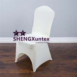 Wholesale Cheapest Chair Covers - Cheapest Price Ivory Color For Wedding Lycra Spandex Chair Cover \ Poly Chair Cover