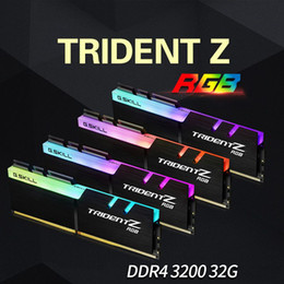 Wholesale Quad Desktop - Game Memory RAM DDR4 32GB 16GB 3200MHz 2400MHz Quad Channel Dual Channel GSkill Trident Z RGB Water Flow Light Flashing Effect Desktop RAM