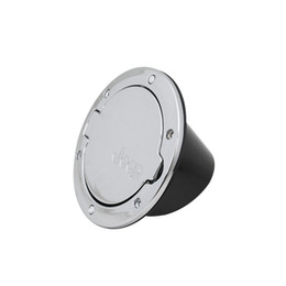 Wholesale Gasses For Pc - Wholesale- 2016 Newest Aluminum Alloy Silver Gas Fuel Tank Cap Door Cover Fit for Jeep Wrangler 07-15 1 PC