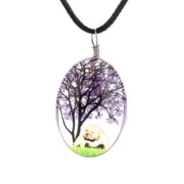 Wholesale White Wishing Trees - Wish Necklace Necklaces Hot Sale Dried flowers Life Tree Crystal Pendants Silver Chain Necklaces For Women Girl Jewelry Wholesale 0623WH