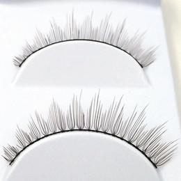 Wholesale Wholesale Eyelashes Good Quality - 3Paris set Natural Long False Eyelashes Plastic Cotton Stalk Fashion Fake Eye Lashes Synthetic Hair Good Quality Makeup Tools