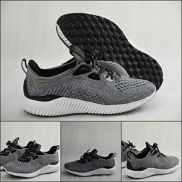 Wholesale Alpha Red - 2017 New Fashion Alpha Bounce Boost Running Shoes Black Khaki Kanye West Men's Trainers Cheap Sneaker Sports Shoes Eur 36-45 With Box