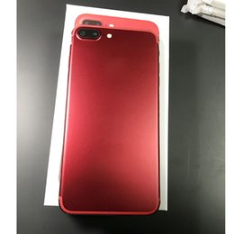 Wholesale Digital Camera Black - 5.5 inch Red Goophone i7 Plus Quad Core MTK6580 Smart Phone 1GB Ram 8GB ROM Android 6.0 MObile phone 8MP Camera Show 4G Lte With Sealed Box