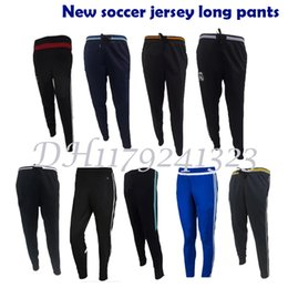 Wholesale Top Elastic Waist - New Top thai Quality Really madrid sport soccer Tracksuits trousers 2016 2017 chelsea Training suit Long Pants jerseys