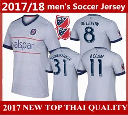 Wholesale Fire Football - order 10 Pieces DHL 2017 2018 CHICAGO Soccer Jerseys 17 18 DE LEEUW Fire FIRES CAMISETAS SCHWEINSTEIGER Football Jersey Best quality shirts