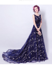 Wholesale Tailed Jacket - Royal Blue Halter Crystal Beaded Bodice With Full Length Tail Evening Dresses Arabic Evening Gowns vestido de noche