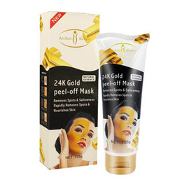 Wholesale Anti Aging Skin Treatment - 24K Gold Mask Collagen Spa Salon Modeling Facial Mask Peel Off Face Skin Anti Remove Wrinkle Deep Cleaning Unsex 120 ML DHL
