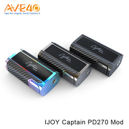 Wholesale China Vapor - IJOY Captain PD270 ecig mods with Dual 20700 Battery vapor mod china VS Smok Alien Kit Rainbow PD270