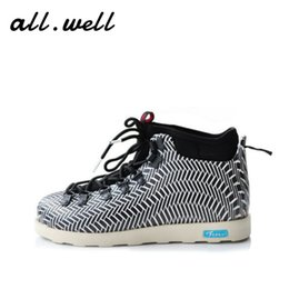 Wholesale Lace Up Rain Boots - Native Fitzsimmons Men&Women's Waterproof Ankle Boots Winter Shoes A&W Eva Warm Snow Fur Rain Martin Timber Botas