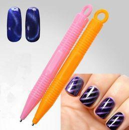 Wholesale Diy Nail Magic - Nail Art Tool Magnet Pen for DIY Magic 3D Magnetic Cats Eyes Polish Manicure Gel 3D Tips Painting Dotting Magnetic