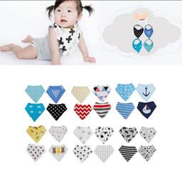 Wholesale Layer Scarf - 4PCS  1 lot INS fox bibs Burp Cloths baby girls double layer bibs burp Baby Triangle Burp Saliva Bandana Scarf Nursing Bibs KKA2046