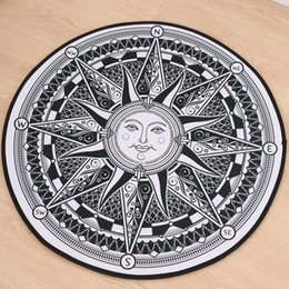 Wholesale Persian Rugs Carpets - 2017 New Round Rugs and Carpets Home Decor Apollo Sun-god doormat Carpets Floor Mat For Living Room Free Shipping