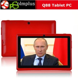 Wholesale Cheap 7inch Android Tablet Pc - Cheap 7inch Q88 Dual camera A33 Quad Core Tablet PC Android 4.4 OS Wifi 4GB 512M RAM Multi Touch Capacitive Bluetooth A23 Tablet Xmas 002609
