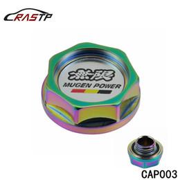 Tapa de combustible de cromo online-RASTP - Racing Mugen Power NEO Tapa del tanque de combustible de la tapa de aceite de aluminio cromado para Honda ACURA RS-CAP003