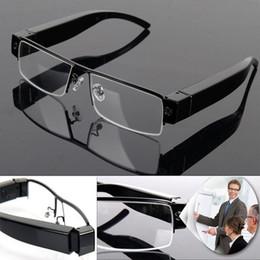 Wholesale Spy Audio Video Glasses - Spy Glasses Camera Full HD 1080P Eyewear Hidden pinhole camera Security & Surveillance sunglasses Mini camcorder audio video recorder V13