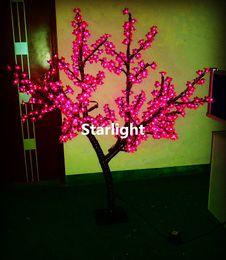 2019 albero di ciliegio verde chiaro Outdoor 1.5m / 5ft Altezza LED Cherry Blossom Tree Light Home Holiday Decorazioni di Natale Rosso / Blu / Verde / Bianco / Giallo / Rosa / Viola per Opzione sconti albero di ciliegio verde chiaro