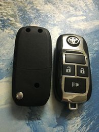 Wholesale Toyota Keyless Entry Fob Replacement - Toyota Corolla Camry 3 Buttons Replacement Flip Folding Remote Key Shell Fob Blank Cover Toy43 Keyless Entry Alarm Housing