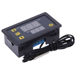 Wholesale Digital Display Thermostat - -55-120 Degree Digital Temperature Controller DC 12V Thermostat Temperature Control Red And Blue Display