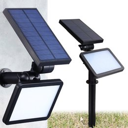 Wholesale Wall Solar Light Patio - Solar LED garden lights outdoor wall lamps Adjustable Landscape Light Security Lighting floodlights Auto On Off for Patio Deck Yard decor