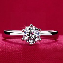 Wholesale Three Heart Rings Women - 925 sterling silver Rings with CZ diamond wedding Rings for women WeddingParty Birthday Jewelry Engagement