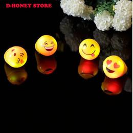 Wholesale Led Flashing Jelly Rings - Free shipping led finger light Light-Up Emoji Jelly Rings Emoticon Flashing LED Emotions Favors Blinking wholesale