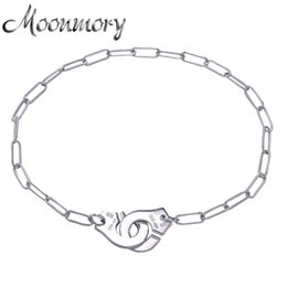 Wholesale Silver Handcuff Bracelet - Wholesale- France Famous Jewelry Dinh Van Handcuff Bracelet For Women 925 Sterling Silver Chain Link Bracelet Menottes Pulseira Feminina