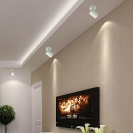 luces de techo para tiendas Rebajas Luz de la pista del LED COB 10W 12W 15W Luces del carril del techo proyector para la ropa fija de la cocina Tiendas de zapatos Tiendas Iluminación de la pista