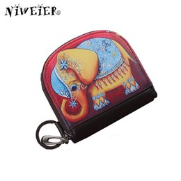 Wholesale Leather Elephant Bag - Wholesale- Cartoon Elephant Women's Coin Purse Girls Teenagers Organizer Wallets Zipper Clutch PU Leather Ladies Card Bags Bolsa Feminina