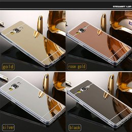 Wholesale S4 Gold Case - Mirror case for Samsung Galaxy S4 S5 TPU for women drop shipping