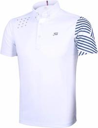 Wholesale Mens Red Star T Shirt - 2017 Spring Men's Golf Polo Shirts Breathable Mens Short Sleeves Golf T-Shirts Stars Golf Shirt