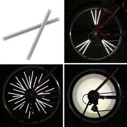 Wholesale Bike Rear Reflector - 12pcs Reflective Mount Clip Tube Warning Strip Bicycle bike Wheel Spoke Reflector mountain rear bike reflector light reflector