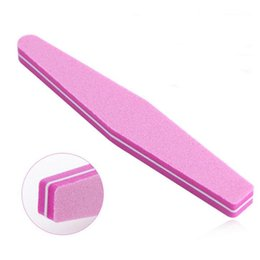 Wholesale Stick Files - NEW Sanding Nail File Grits Straight Edge Stick Nail Art Buffing Pedicure Manicure Sanding Polish Nail File