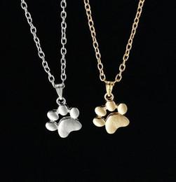 свитера для девочек Скидка Следы лапы цепи ожерелье леди мода милые домашние животные собаки шарм ожерелья подвески ювелирные изделия для девушки женщин свитер ожерелье