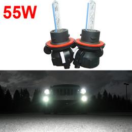 Wholesale Bi Xenon H13 Bulb - FEELDO 55W 5.5A Car Xenon Headlight Lamp H13 9008 Hi Lo Bi-Xenon Replacement AC HID Bulbs