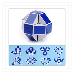 Wholesale Cube Jigsaw - Magic Cube 3D Twist Puzzle Jigsaw Puzzle Magic 3D Snake Ruler Toys Children Education Intelligence Toys Supertop Puzzles Free Shipping