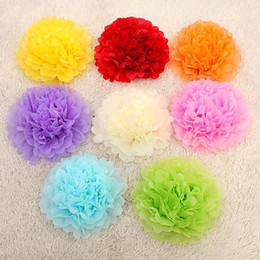 """Wholesale Pompom Paper - Wholesale- 15pcs 4"""" 6"""" 8""""(10cm 15cm 20cm) Tissue Paper Pom Poms Mix Color Flower Kissing Pompom Balls for Wedding party home Decoration"""