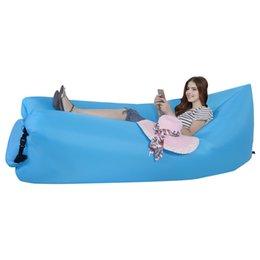 Wholesale Inflatable Boats Free Shipping - free shipping Outdoor Inflatable Air Sleeping Bag Portable Sofa Hangout Lounger Air Boat Air Lazy Sofa Camping Beach Sleeping