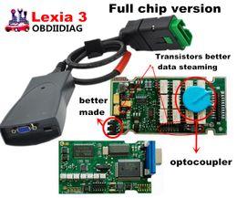 Wholesale Lexia Diagnostic - quality A+++ Lexia Full Chip Lexia 3 V48 Diagbox V 7.65 PP2000 V25 Lexia3 Firmware 921815C Lexia-3 ForCitroen ForPeugeot