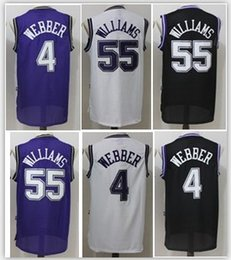 Wholesale Adult Jerseys - HOT Men 55 Jason Williams 4 Chirs Webber Jerseys Adult boy Shirts Stitched Jerseys top Quanlity Mix Order