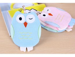 Wholesale Baby Bath Mitts - Cute Baby Bathing Gloves Owl Shaped Kids Shower Massage Towel Soft Sponge Skin Rub Mitt Bath Glove for Children Bathroom Supplies