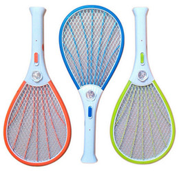 Wholesale Mosquito Fly Swatter - Rechargeable Electric Swatter Pest Control Insect Bug Bat Wasp Zapper Fly Mosquito Killer with LED Lighting