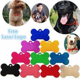 Wholesale Fashion Id Necklaces - Free engraving Dog Pet ID Tags Cat Name Dog Necklace Tag Pets Identity Card For Pets Fashion Key Chain ID Card I085