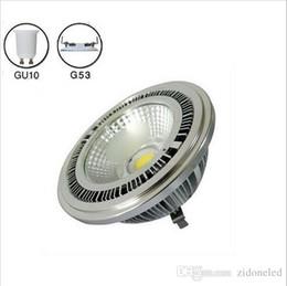 10w AR111 COB Refletor LED G53 GU10 AR111 holofotes quente frio branco 3 anos de garantia AC85-265V branco de Fornecedores de tipos de conectores 12v