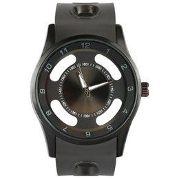 Novos homens de luxo sports oco nome da marca relógios preto e prateado Relgio Relógios Pulseira Homens de quartzo Chronograph Militar relógios de Fornecedores de nomes de marcas relógios de luxo homens